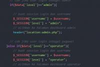 Membuat Multi Level Login Menggunakan PHP dan MySQLi - Jadidewa.com