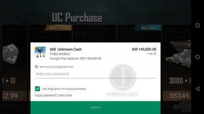 Cara Top Up PUBG Mobile Dengan Voucher Google Play 3
